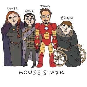 NWT Game of Thrones House of Tony Stark Shirt